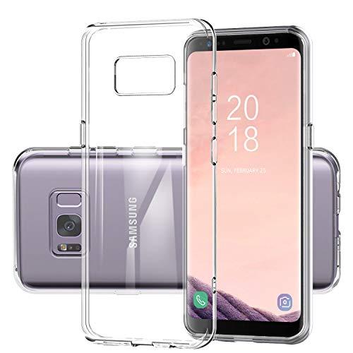 DOSMUNG Custodia per Samsung Galaxy S8,Trasparente TPU Morbido Silicone Cover per Samsung Galaxy S8 [Ultra Sottile] [Anti Scivolo] [ Antiurto] [Resistente ai Graffi] Samsung Galaxy S8 Protettiva Case