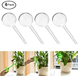 Fashionclubs Aqua Globes Small Plant Automatic Self Watering PVC Bulbs Ball,Pack of 4 (Clear)