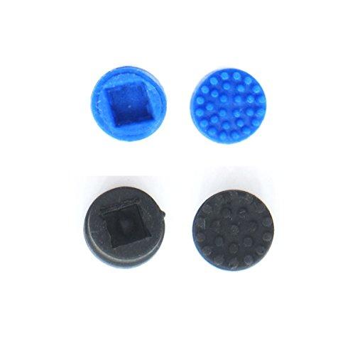 ExHung® トラックポイント (2個入) 適用する ノートパソコン HP Compaq (ブラック +ブルー)