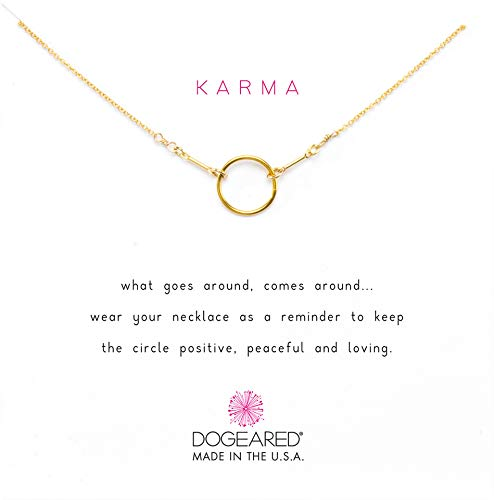 Dogeared Karma Necklace 16 inch Gold Dipped One Size
