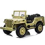 Ride On UTV Buggy 4X4 RZR Electric Military Car XXXL EVA Rubber Tiers 3 Seats 2.4G Remote Control for Kids 2 to 9 Years Old. by RIDE ON Cars and Bikes .6-8MPH Speed