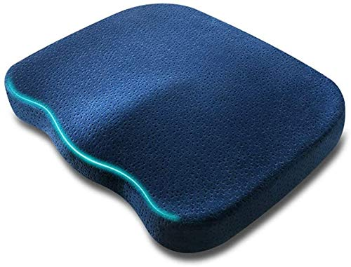 Set Of 4 Chair Cushions Seat Cushion Pillow For Office Memory Foam Seat Cushion Orthopedic Chair Cushion Non Slip Chair Pad Relieve Back Pain And Sciatica Pain
