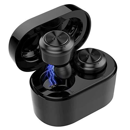 SANYEYE Kopfhörer Bluetooth 5.0,Mini drahtlose Earbuds mit Stereo 3D, Ladebox mit Magnetanschluss, eingebautem Mikrofon,Leichtgewichtler und bequem