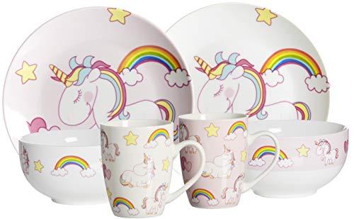 Ritzenhoff & Breker Brunch- und Frühstücksgeschirr-Set Unicorn, 6-teilig, Porzellan
