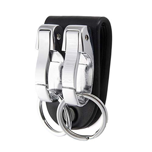 LGNL Leather Belt Loop Keychain with 2 Detachable Clips&Key Ring Belt Key...