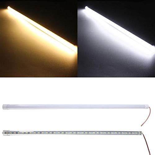 LED-Streifen-Lichter LED-steifes Streifen-Licht 36 SMD 7020 Aluminiumlegierung Shell Kabinett Lampe Bar 10W DC 12V 50CM (Color : Pure white)