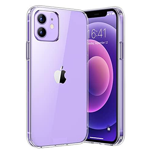 UNBREAKcable Crystal Clear Hülle für Apple iPhone 12 & iPhone 12 Pro Schutzhülle - Ultra-starker Schutz Handyhülle für iPhone 12/12 Pro mit Hartplastik Rückseite und Weich Silikon Bumper