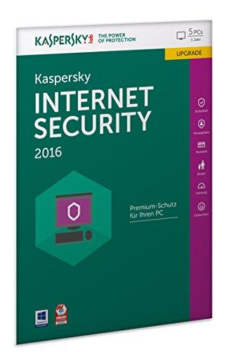 Kaspersky Internet Security 2016 Upgrade - 5 PCs / 1 Jahr (Frustfreie Verpackung)