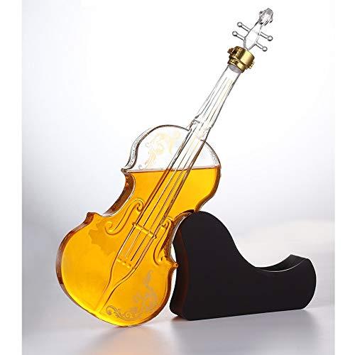 Creative High-Fin Whiskey Violin Decanter Geometría única Multi-Uso Whisky Carafe Licor Personalizado Aeroador Botella para Bar Decoración del hogar 612