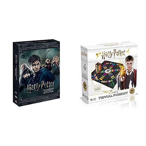 Harry Potter Collection (Standard Edition) (8 Dvd) + Winning Moves Harry Potter Trivial Pursuit Ultimate Edition-Gioco da Tavolo, WM00212-ITA-4