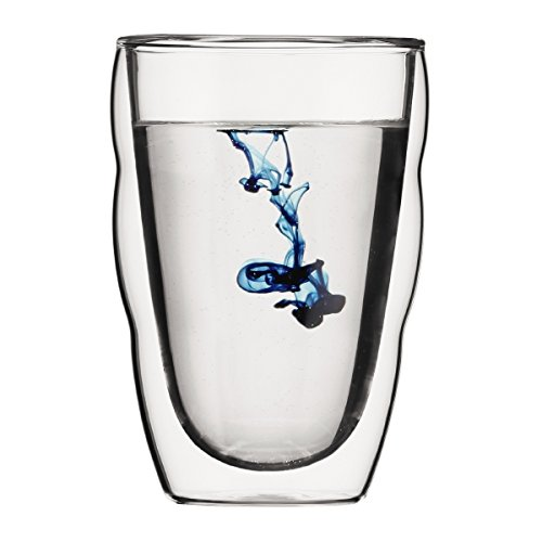 Bodum 10485-10 PILATUS 2-teiliges Gläser-Set (Doppelwandig, Isoliert, Spülmaschinengeeignet, 0,35 liters) transparent