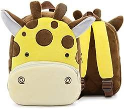 Cute Toddler Backpack,Cartoon Cute Animal Plush Backpack Toddler Mini School Bag for Kids Age 1-4Years Old(Giraffe)