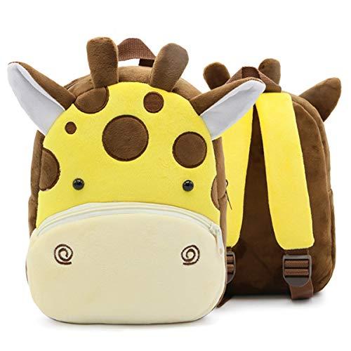 Cute Toddler Backpack Cartoon Cute Animal Plush Backpack Toddler Mini School Bag for Kids Age 1-4Years Old(Giraffe)