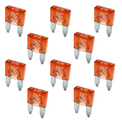 10 Flachstecksicherung Mini-Sicherung 10A / 32V / rot