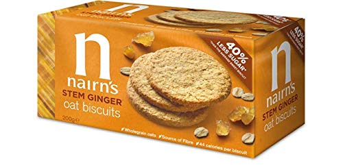 - Nairns - Stem Ginger Wheat Free Biscuit   200g   BUNDLE by Nairn's Oatcakes