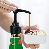 ABRC Bomba de plástico Botella de presión de Aceite del rociador Boquilla de Hogares Oyster Salsa de Tipo Push Herramientas de Cocina Shiing