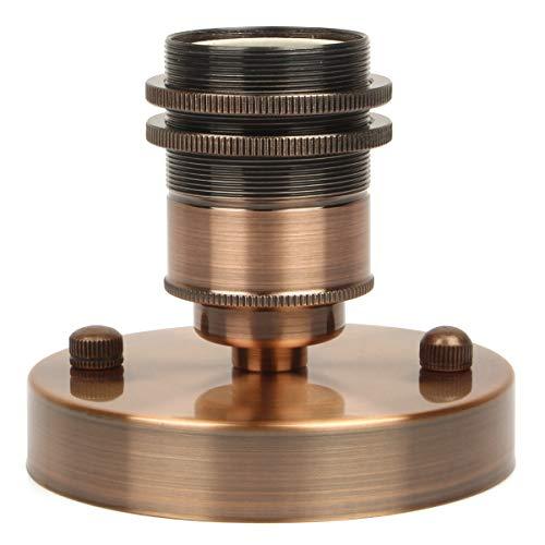 Rétro Douille support de lampe de plafond Edison Style E27 support de l'ampoule de céramique Vintage pendentif adaptateur de lumière (Laiton Antique Rouge, 1PCS)
