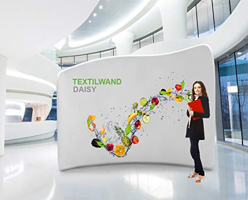 Messewand mobiler Messestand Stoffwand im modernen Design inkl. Druck