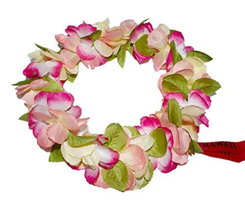 The Hawaii Elastic Headband-haku lei (Peach)