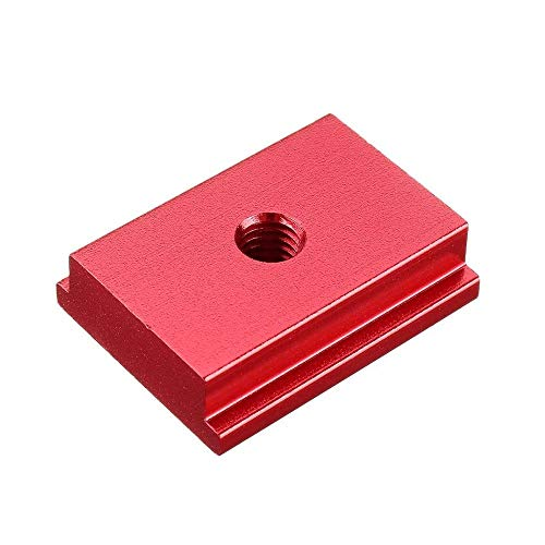 YUAN CHUANG M6/M8 T-tracks Model Aluminium Alloy T Slot Nut Standard Miter Track for workbench Router Table Woodworking Tool Fastener (Color : M6 RED, Size : 1pcs)