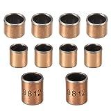 Palier lisse 8 mm alésage X 10 mm OD x 10 mm longueur paliers lisses enveloppés bagues sans huile placage de cuivre (paquet de 3)