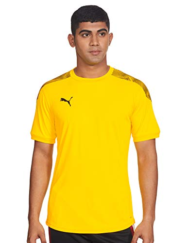 PUMA Ftblnxt Pro tee Camiseta de Manga Corta, Hombre, Amarillo (Ultra Yellow Black), L