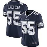 XIANYI Camiseta de fútbol americano Dallas Vander Clothing Esch Rugby Jersey Leighton de manga corta #55 NFL 100Vapor Limited Jersey - M