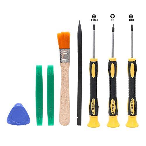 8-teiliges Set Torx T8 T6 T10 H35 Schraubendreher-Öffnungs-Werkzeug-Set für Xbox One Xbox 360 PS3 PS4