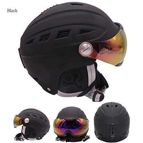 Kampre 2-in-1 skihelm met instelbare veiligheidsbril en afneembare spons helm van eps.