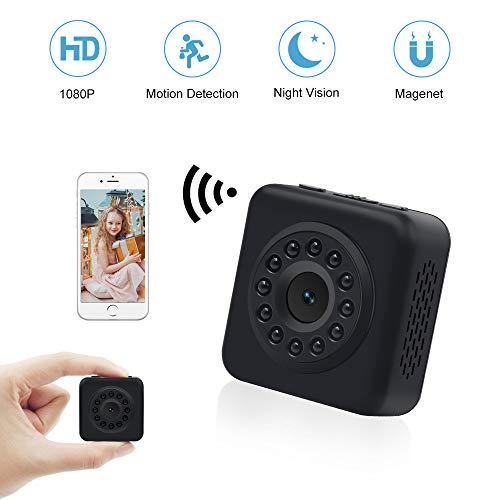 Kleine Kamera WiFi LXMIMI Wireless Mini Kamera 1080P Mini WLAN Überwachungskameras mit Bewegungserkennung und Infrarot Nachtsicht IP Sicherheit Kameras für iPhone/Android Phone/iPad