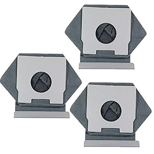 KingBra - Bolsas de polvo para aspiradora Panasonic MC-CA291MC-CA293/CG321/CG301 TR (3 unidades, 120 mm, 113 mm), color gris