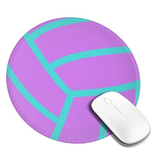 Runde Gaming Mauspad Lila Fuchsia Aqua Volleyball, Rutschfest Gummi Mauspad Rund Mauspad für Computer Laptop Mousepad