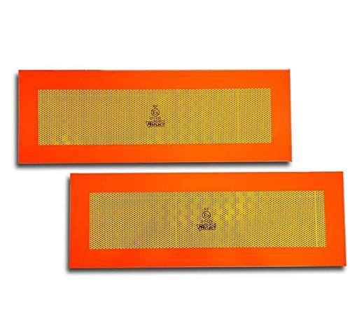 Trupa 2 x Heckmarkierung 565 x 200 ECE 70 Warntafel Folie Reflektor Anhänger Auflieger