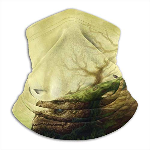 Be-ryl Cache-Cou Dragon of The Forest World of Fantasy Art, Masque Facial en Coton