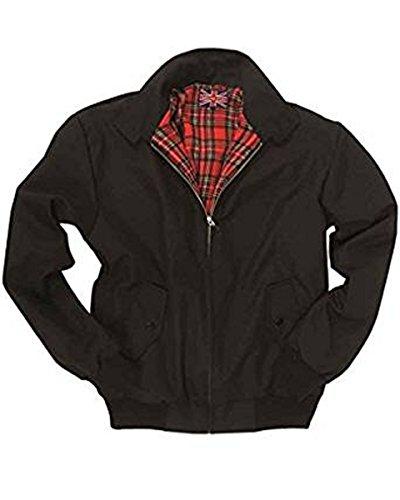 Knightsbridge Harrington English Style Jacke schwarz mit kariertem Innenfutter XL,Schwarz