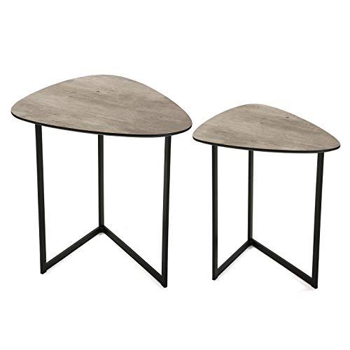 Versa set met 2 tafels kleur beton - tafel