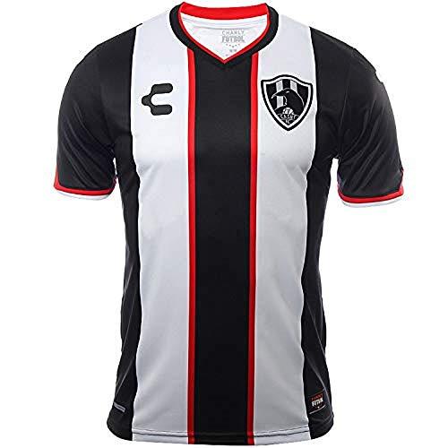 Charly Club De Cuervos Home Men's Soccer Jersey- 2017/18 (XS) White, Black