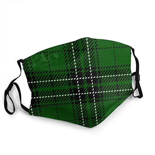 ZVEZVI Clan Mac Lean Scottish Woven Tartan Plaid Abstract Maclean Face Masks Washable Reusable Safety Masks Protection From Dust Pollen Pet Dander Other Airborne