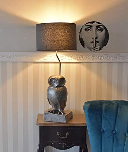 Tischlampe Eule Nachttischlampe Uhu Lampe Leuchte Vogelfigur Leselampe 74cm Palazzo Exklusiv