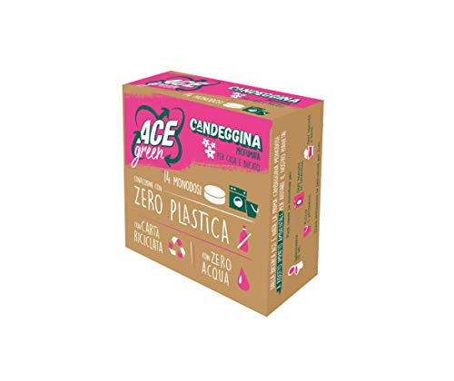 ACE CANDEGGINA GREEN Pastiglie, 14 Monodosi Igienizzanti da sciogliere in acqua