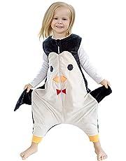 ZEEUPAI - Saco de Dormir con piernas de Franela para bebés niños infantíl Ropa Pijama niñas