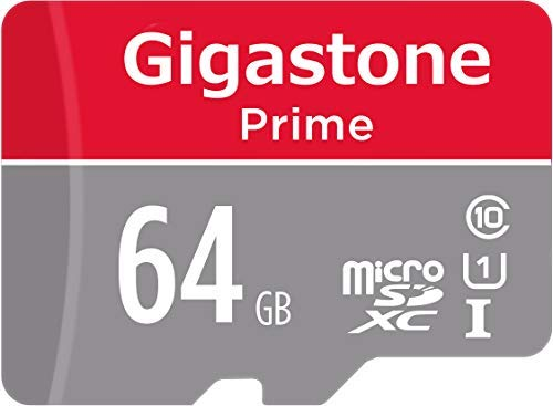 Gigastone 64GB Micro SD Card, Gaming Plus, Nintendo Switch Compatible, High Speed 90MB/s, 4K Video Recording, Micro SDXC UHS-I A1 Class 10