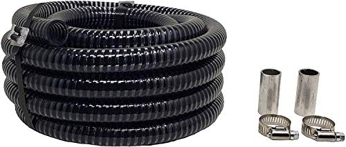 """RV Sewer Hose Extension for The Sewer Solution 3/4"""" Diameter Sewer Hose System, 25 FT Length Flexible PVC Tubing, 2 Couplers and Worm Gear Clamps Included, Made in USA"""