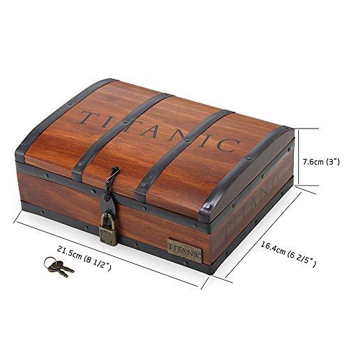 Titanic Herz des Ozeans Kristallanhänger mit reiner Silberkette in einer klassischen handgefertigten Holzbox, ideal für geliebte