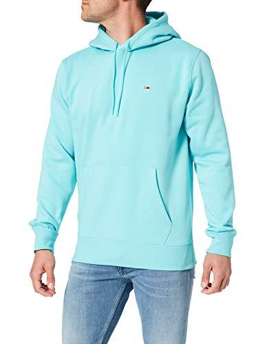 Tommy Jeans TJM Regular Fleece Hoodie Sudadera, Azul Cloro, XS para Hombre
