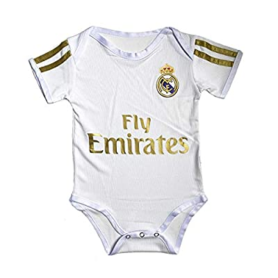 ODOSAN Football Club Baby Bodysuit Comfort Jumpsuit for 0-18 Months Infant and Toddler New Season (Real Madrid 1, 9-18 Months Baby)