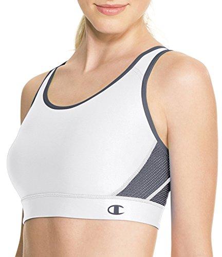 Champion Women's Great Divide Sports Bra, White Medium Grey, Medium