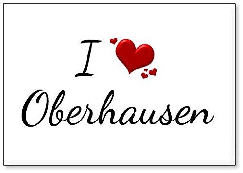 M&us Souvenirs - Ich Liebe Oberhausen, Kühlschrankmagnet (Design 1)
