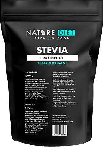 Nature Diet - Dolcificante Stevia 1000g | Dolcificante Naturale | Basso contenuto calorico | Sostituzione dello zucchero