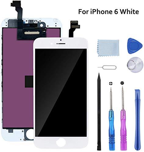 """Beefix Schermo per iPhone SE 5S Bianco 4.0"""" Display LCD Compatibile con iPhone SE 5S Digitizer con Kit di Utensili Gratuiti"""